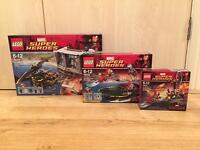 Collection of Lego Iron Man Superheroes sets. All brand new and sealed. 1 of each set included