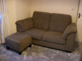 2, Ikea 2-Seater Sofas with matching footstool - excellent condition