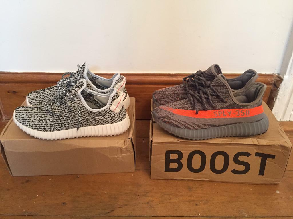 2 pairs of Adidas Yeezy boost 350 and 350v2 in size 7.5