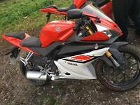 2015 65 PLATE YAMAHA YZF R 125 ONLY 150 MILES FROM NEW!!!!
