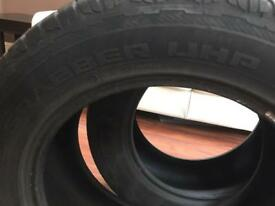 2 General Grabber UHP (Ultra High Performance) tyres - 255/55/R18 109V 6mm