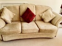 3 seater sofa, 2 seater and matching armchair.