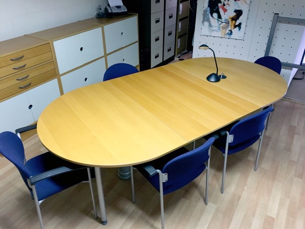 Ikea Effektiv 2 4m X 1 2m Conference Table With X6 Chairs