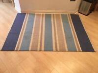 Next nautical blue striped rug