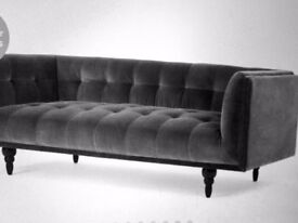 Fabulous 3 seater sofa from made:Com in concrete velvet. New-in storage rrp £799