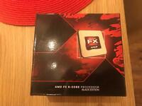 Amd Fx 8350. 4.0ghz. Plus motherboard and 970 graphics card and memory and cooler