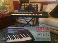 Yamaha PSR-77 Keyboard with Stand