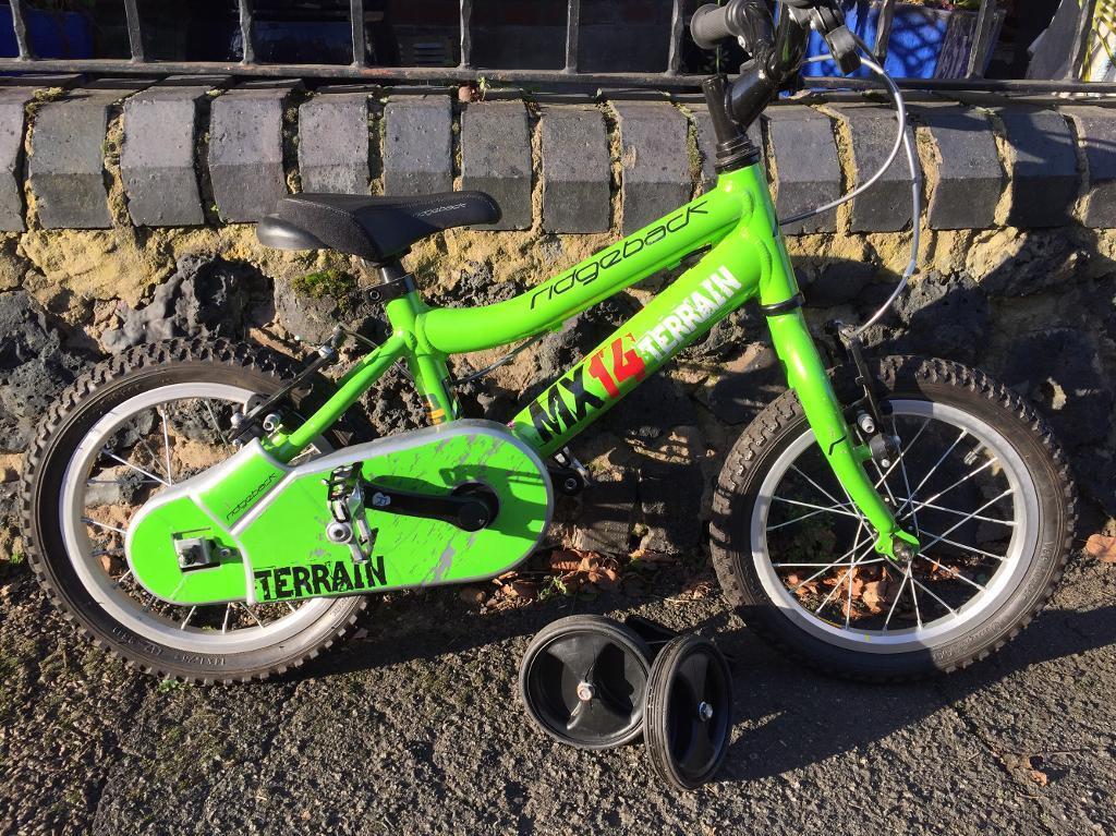 Kids Ridgeback MX14 Terrain bike With stabilisers
