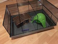 Medium hamster cage& accessories