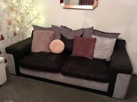 2 x 2 seater microfibre sofa (SCS)