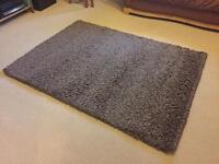 Dunelm brown (taupe) 'slumber' rug 1.2x1.7m
