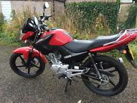 Yamaha ybr 125 Red 2016model very low mileage 280m