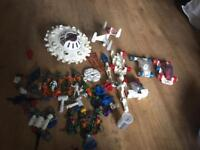 lot of britains space toys and accessories 1982 with lead bases