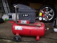 COMPRESSOR 2HP 24 LT RECEIVER IN GOOD WORKING ORDER CAN BE SEEN WORKING Ad ID: 1282743340
