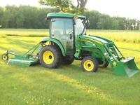 TRACTOR LOADER MOWER FOR HIRE