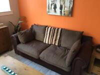 Sofa and matching arm chairs.
