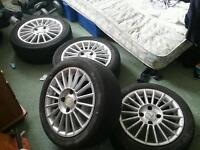 4 x 4 stud 15 inch fox racing alloys