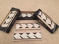 Three packs of boarder tiles