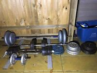 Weights. Home gym