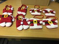 8 Piece Santa Christmas Cutlery Socks