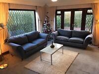 2 X 3 MultiyorkTM Blue / Grey Fabric Sofa Set