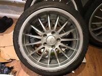 Genuine breyton magic alloys tyres bmw rare deep dish E36 M3 E46 E90