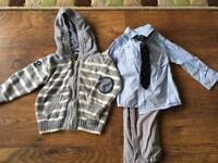 Boys Suit & Cardi 9-12 months