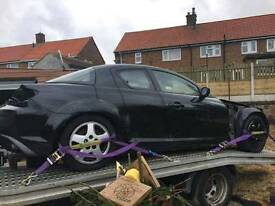 2004 Black Mazda RX8 breaking for SPARES 231BHP
