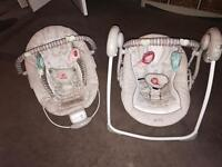 Mothercare bouncy chair and swing.