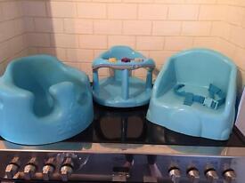 Bumbo & booster seat & bath chair £4 each