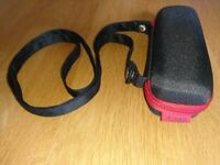 Hugo Boss Hugo Label Sunglasses Case Red And Black With Detachable Shoulder Strap New