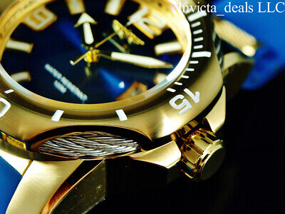 NEW Invicta Men's 51mm Bolt VIPER Quartz SAPPHIRE BLUE Tone Gold Tone SS Watch