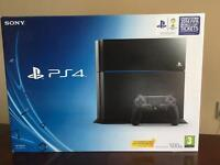 Ps4 with controller and 3 games