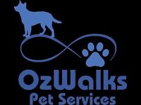 OzWalks Pet Services for your pet care needs