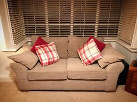 2 NEXT GARDA SOFAS FOR SALE - 3 SEATER, AND 4 SEATER CORNER CHAISE IN MINK COLOUR
