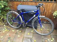 """Mens 20"""" Ammaco hybrid bicycle. Inc lights, rack & mudguards. D lock & delivery available"""