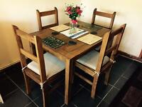 Rustic wooden kitchen table and 4 chairs