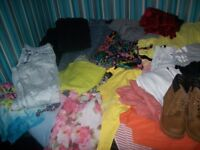 bundle of womans clothes size 8/10 s/m 50 plus items