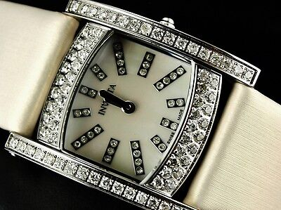 Invicta Women Wildflower Swiss Made 3ct Diamonds Limited Ed MOP Dial Watch-RARE