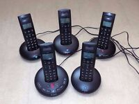 BT Graphite 2500 Trio cordless DECT phones, expanded to 5 handsets
