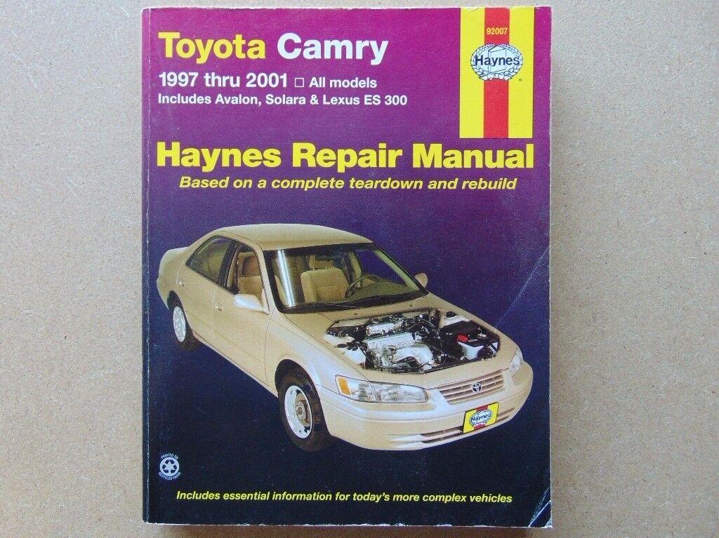 Haynes Manual for TOYOTA CAMRY -1997 Through 2001 (Covers:All Camry, Avalon, Solara & Lexus Es 300.)