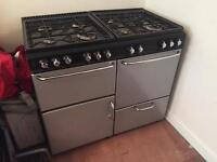 STOVE New Home Gas Range 1000 GDL. 8 Burners, grill, two ovens, pan drawer auto flam electric inlet