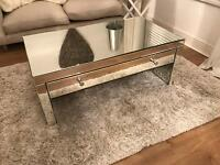 Mirrored coffee table/tv unit
