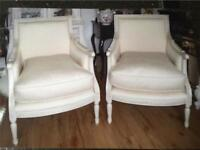 French style armchairs x 2