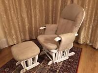 Tutti Bambini rocking nursing chair and stoll
