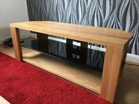 Solid oak corner tv/av unit (John Lewis)