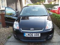 FIESTA GHIA,1.4TDCI DIESEL 5DR FULL GREY LEATHER,A/C,ALLOYS ALL THE TOYS MOTed,£30 A YEAR ROAD TAX!!