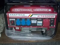 Brand New Generator petrol 220v/380v 3phase 6.5kva, can deliver if required.