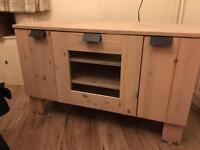 TV Corner Unit bleached pine. £15