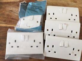 White Plug sockets